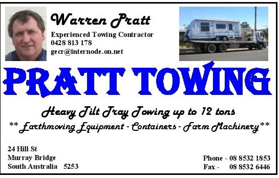 Pratt Towing Business Card 1