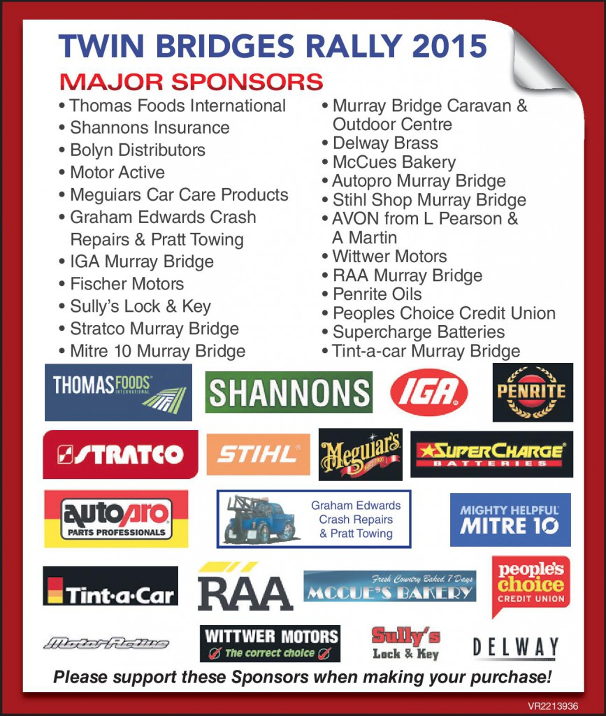 Twin Bridges Sponsors