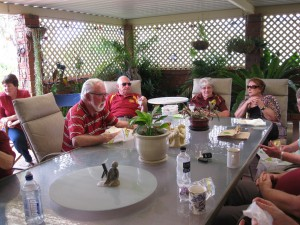 Lunch was enjoyed by all at the Kitto's
