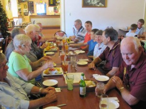 A delicious lunch was served at the Lobethal Hotel