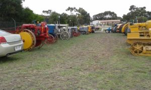 Some of the many tractors and stationery engines on display