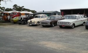 Members cars on display at the Museum