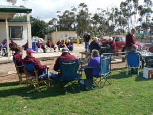 Morning tea was enjoyed by all at Callington Oval